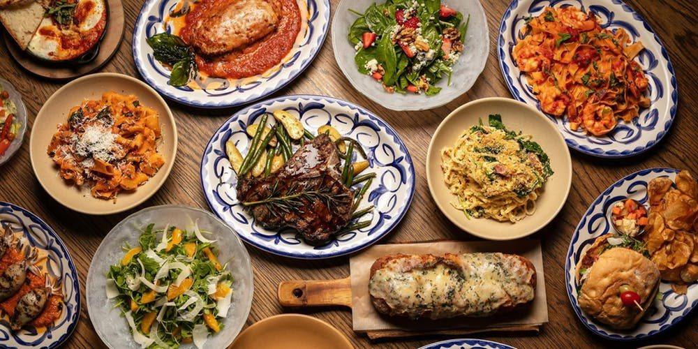 Table of yummy dishes